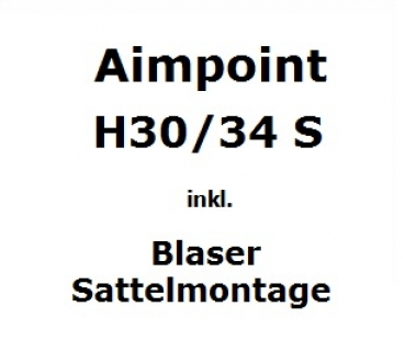 Aimpoint Hunter H30/34 S inkl. Blaser Sattelmontage
