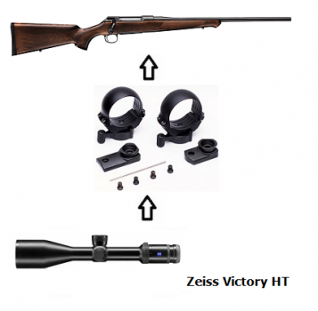 Sauer 100 Classic + Zeiss Victory HT + Montage + ... Komplettpaket