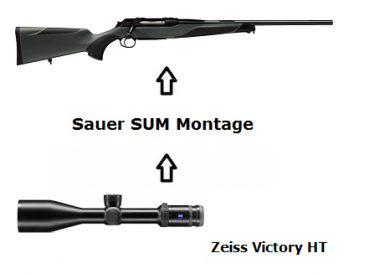 Sauer 404 Classic XT + Zeiss Victory + Montage + ... Komplettpaket
